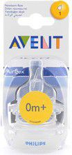 Avent - Airflex Newborn - One Hole Teat - 0m+ - 2 Units