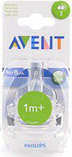 Avent - Teat - silicone 1m+2 units slow flow