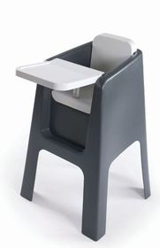 Hoppop Trono - Evolutive High Chair - White and Grey