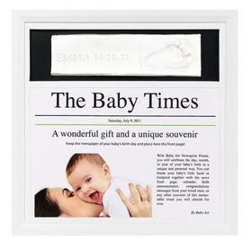 Baby Art - Newsprint Frame - Black & white