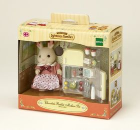 Sylvanian Family - EUR Chocolate Rabbit Mother & Fridge Set
