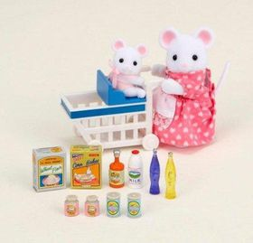 Sylvanian Family - Shopping Cart with Groceries