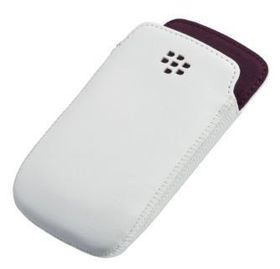 BlackBerry 9360 - Line Leather Pocket - White and Royal Purple