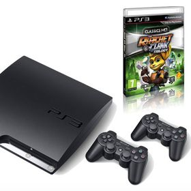 Playstation 3 Console 160GB + Ratchet &amp; Clank HD Collection + 2 x Dual Shock Controllers (PS3)