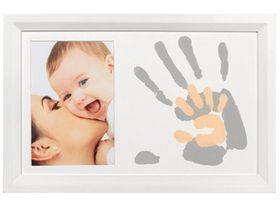 Baby Art - Duo Paint Print Frame - White