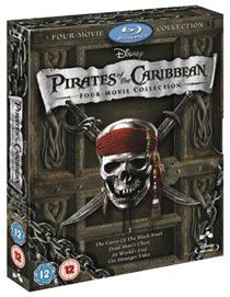 Pirates of the Caribbean 1-4 (Import Blu-ray)