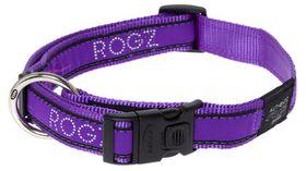 Rogz - Fancy Dress Extra-Large Armed Response Dog Collar - Purple