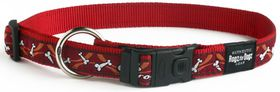 Rogz Fancy Dress Large Beachbum Dog Collar - Red