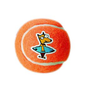 Rogz - Dog Molecule Electron Ball - Medium 6.5cm - Orange