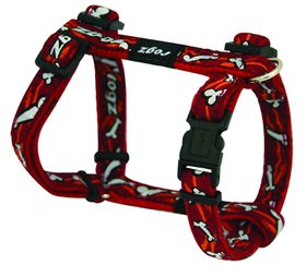 Rogz Fancy Dress Small Jellybean Dog H-Harness - Red