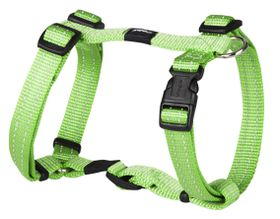 Rogz Utility Medium Snake Dog H-Harness - Lime