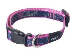 Rogz - Fancy Dress Medium Scooter Dog Collar - Navy & Pink