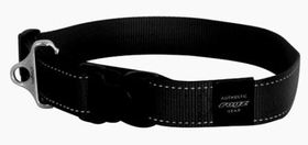 Rogz Utility Extra Extra Large Landing Strip Dog Collar - Black