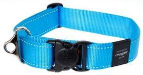Rogz Utility Extra Extra Large Landing Strip Dog Collar - Turquoise