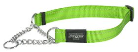 Rogz Utility Large Fanbelt Dog Check Collar (22cm x 2cm) - Lime