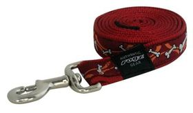 Rogz Fancy Dress Extra Extra Large Special Agent Nylon Dog Fixed Lead - Red