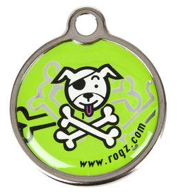 Rogz Large Metal Dog ID Tag 31mm - Lime