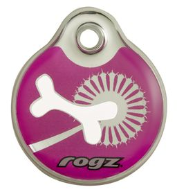 Rogz - Self-Customisable Small Resin ID Tag - Pink