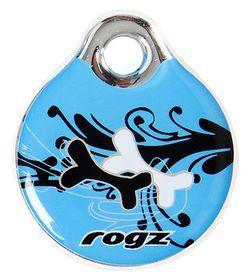 Rogz - Self-Customisable Large Resin ID Tag - Turquoise