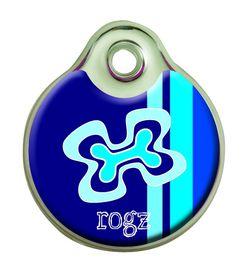 Rogz - Self-Customisable Large Resin ID Tag - Navy