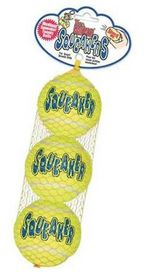 Kong -  Dog Toy Airdog Squeakair Tennis Ball 3 Pack - Extra-Small - Yellow