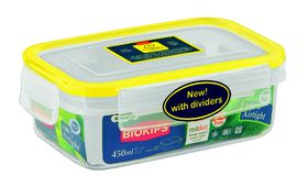 Snappy - 450ml Rectangular Food Storage Container With Dividers