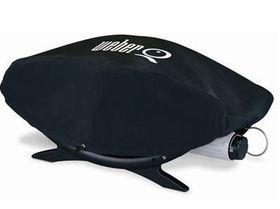 Weber - Q200 Vinyl Cover Black - Fits Weber - Q, Q200 and Q300 Gas Grills