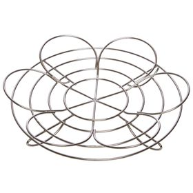 Progressive Reversible Stainless Steel Canning Rack - (260mm x  260mm x 50mm) Silver