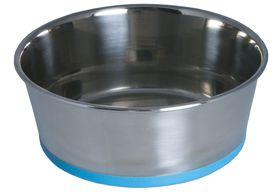 Rogz - Stainless Steel Slurp Dog Bowl - Large 1700ml - Blue Base