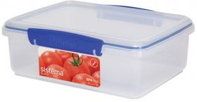 Sistema - Klip It 2L Rectangular Food Storage Container - 233 mm x 175 mm x 81 mm