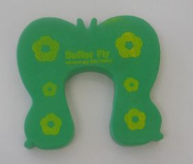 Foam Door Stopper - Green Butterfly