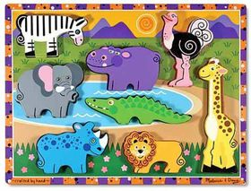 Melissa & Doug Safari Wooden Puzzle - 8 Piece