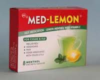 Med-Lemon Sachets 8 Menthol 5235