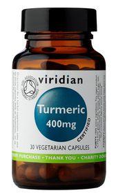 Viridian Organic Turmeric 400mg Vegetarian Capsules (30)