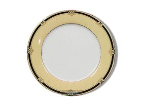 Noritake Braidwood Dinner Plate 26cm - White & Gold with Black Detail (26.5mm x 26.5mm x 1mm)