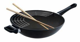 Scanpan - Classic Wok With Rack and Sticks - 32cm