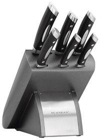 Scanpan - Classic 7-Piece Platinum Knife Block Set
