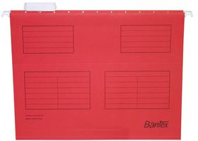 Bantex Suspension File A4 - Red (Pack of 25)