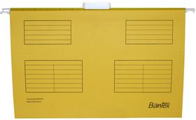 Bantex Suspension File Foolscap Retail Pack - Yellow (Pack of 10)