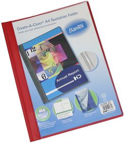 Bantex Create-A-Cover A4 Quotation Folder - Red