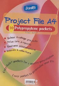 Bantex Project File With Flexible Cover 20 Pocket - Clear