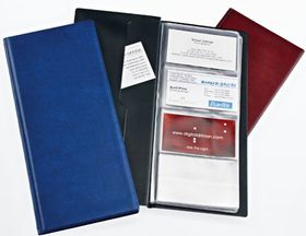 Bantex Business Card Holders Standard Range - Maroon
