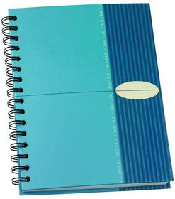Bantex Noted Hardcover Spiral Notebook - A4 Blue
