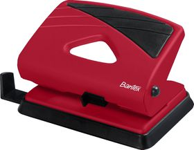 Bantex Medium Home 2 Hole Punch - Red