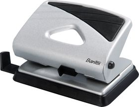 Bantex Medium Home 2 Hole Punch  - Silver