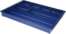Bantex Desk Drawer Organiser - Blue (7 Compartment)