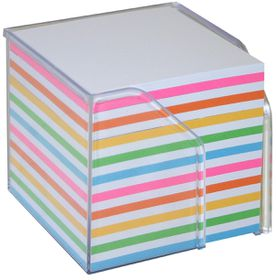 Bantex Memo Cube Plastic Holder - Rainbow