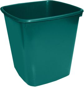 Bantex Waste Paper Bin 20 Litre Square - Green