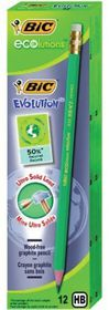 BIC Ecolutions Evolution 655 HB Pencils (Box of 12)