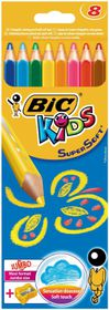 BIC Kids Super Soft 8 Jumbo Colour Pencils